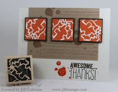 Totally Awesome stamp carved using Stampin' Up!s Undefined Stamp Carving Kit!  #undefined #stampinup
