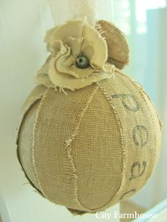 rag ball ornaments