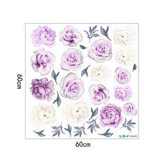 OpenSky Nursery Decals, Nursery Art, Peony Rose, Rose Flowers, Peony Flower, Pink Watercolor, Watercolor Paintings, Purple Peonies, Flower Wall Decals