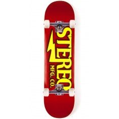 """Stereo Amplified Skateboard Complete - 8.00"""" - Red"""