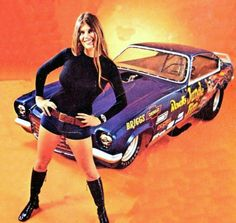 Jungle Pam with the Jungle Jim Funny Car