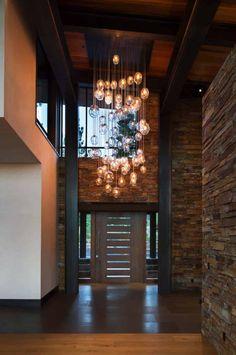 Fabulous mountain modern retreat in the High Sierras - Modern Interior Design Modern House Design, Modern Interior Design, Modern Interiors, Shop Interiors, Home Lighting Design, Interior Lighting, Modern Mountain Home, Mountain Home Interiors, Architecture Design