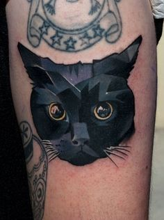 Everybody loves cats and tattoos, so why not combine your love and get a cat tattoo? Here are some of our favourite cat tattoos. Trendy Tattoos, Sexy Tattoos, Body Art Tattoos, Tatoos, Tatuajes Tattoos, Tattoos Skull, Heart Tattoos, Face Tattoos, Sleeve Tattoos