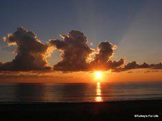 Winter sunset on Belceliz Beach, #Ölüdeniz, #Fethiye