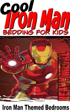 Iron Man Bedding for Kids is fun and exciting for kids themed bedroom. Pick a great bed set and Iron Man accessories to make a big splash. Teen Boy Bedding, Men's Bedding, Luxury Bedding, King Comforter, Comforter Sets, Rooster Kitchen Decor, Fall Kitchen Decor, Mars For Kids, Iron Man Theme