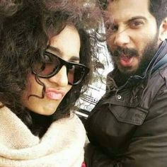 Dulquer Salman and Parvathy