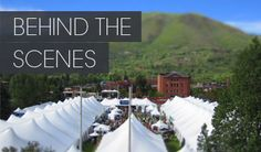This is our view.  I mean, we are where It's at!  Straight across from the Grand Tasting tents.  Best hotel location in Aspen!