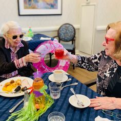 Cheers to a great buffet! Our Assisted Living residents at Four Elms Retirement Residence at Thornhill enjoyed their meal while dressed up for the occasion! Wellness Activities, Emergency Response, Assisted Living, Senior Living, Retirement, Cheers, Buffet, Meal, Inspiration