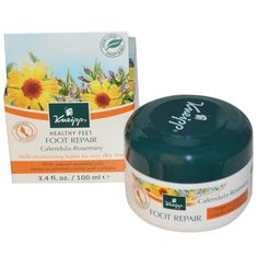 Kneipp Healthy Feet Foot Repair - Calendula & Rosemary are just two of the natural oils in this rich, moisturizing foot cream. Designed to soften & recondition your feet's skin, use to health & revitalize tired or parched feet. Ideal for overnight use.