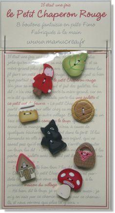 collection Petit Chaperon rouge en boutons