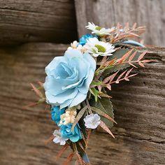 Čelenka do vlasov / Hydrangea - SAShE. Crown, Jewelry, Corona, Jewlery, Jewerly, Schmuck, Jewels, Jewelery, Crowns