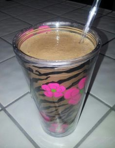 "My morning low-calorie (only 190 cals), high protein(23 grams), ""healthy"" mocha frappucino: Blend 1 cup ice, 2 cups (or 1 1/2 cups) UNSWEETENED almond milk, and two scoops Big Train's Fit Frappe ""Mocha"" (or whatever flavor you like) i used my magic bullet. I sometimes top mine w/a drizzle of smuckers sf caramel syrup. Delicious and great for a quick breakfast. Make approx 16oz. ;)"