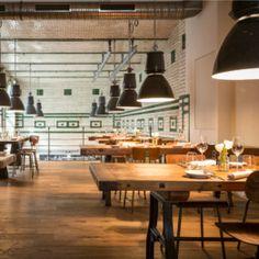 Eins44 – Gehobene Bistroküche im Industrial Chic Berlin Ick Liebe Dir, Restaurant Berlin, Fine Dining, Germany, Ceiling Lights, Places, Table, Restaurants, Industrial