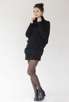LeMuse kūryba. LeMuse Lab Special Designer Cut Black Sweater