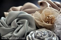 This website has so many beautiful flowers. You can buy the items or learn how to make the two that they teach. Bloom. Volume 3 - How to Make 2 Fabric Flowers