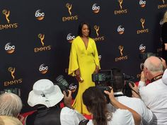 Queen. Ms.Angela Bassett at 2016 Emmy's red carpet