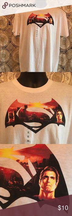 Superman versus Batman T-shirt Batman versus Superman XL white t-shirt Shirts Tees - Short Sleeve