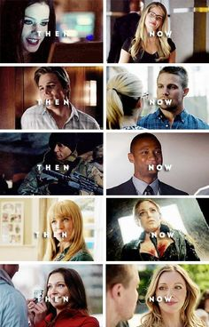 Arrow Characters Past and Present - #FelicitySmoak #OliverQueen #JohnDiggle #LaurelLance #SaraLance