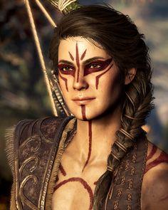 Arte Assassins Creed, Assassins Creed Odyssey, Assassins Creed Origins, Tribal Warrior, Viking Warrior, Maquillage Halloween, Halloween Makeup, Krieger Make-up, Makeup Inspiration