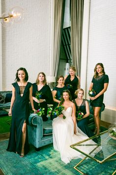 Welcome to the Roger Hotel, where your bridal party photos can look like something from the pages of Vogue…  http://blog.kellywilliamsphotographer.com/bathhouse-studios-wedding/  #Wedding #WeddingPhotographer #WeddingPhotography #RogerHotel #BridalParty #BridalPartyPhoto
