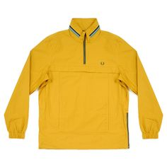 Fred Perry Bradley Wiggins Mustard Half Zip Cagoule Jacket   Esquire Clothing