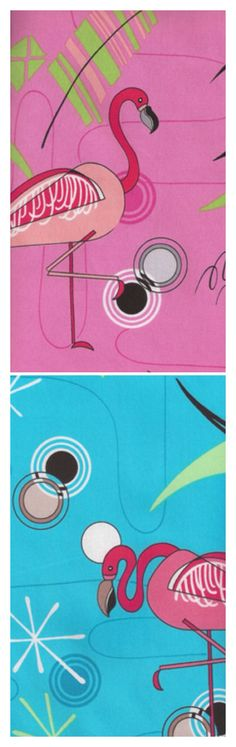 Retro Flamingos print - 2014 fashion trend Pretty Birds, Beautiful Birds, Pretty In Pink, Flamingo Art, Pink Flamingos, Vintage Camper Interior, Rockabilly Baby, Pink Bird, Tropical Birds