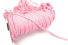 Heather Pink  Knit Jersey Trim Spaghetti Straps by felinusfabrics