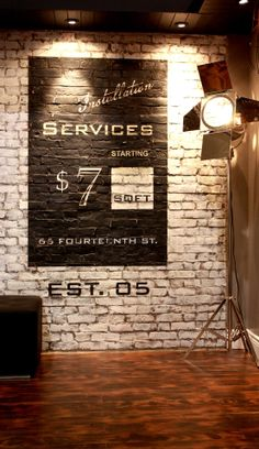 Beautiful, authentic-looking faux brick. Ideal for any space or budget!  Brick Design and Stencil by Century Architexture