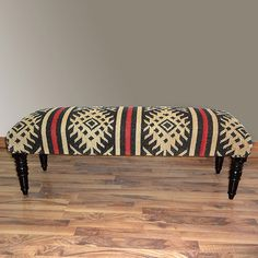 Aztec Wood Bench...  Love that print!!! I wish I had a sweater in that print!