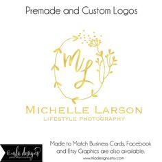 Premade Logo Logo de la feuille dor monogramme Logo par MLAdesigns
