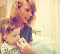 Taylor Swift - Pretty wild that 6 months ago, LT wasn't even born yet and now he chews on my fingers.