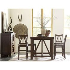 Castlewood Gathering Height Table I Riverside Furniture