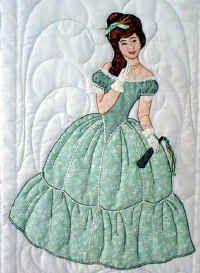 """** Sunbonnet Sue  """"Maribelle With Her Fan"""" Applique Quilt Block Of The Month Pattern @bonnetgirls"""