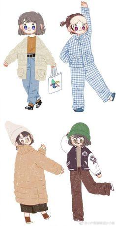 Korean Illustration, Cute Illustration, Cute Art Styles, Cartoon Art Styles, Cute Kawaii Drawings, Korean Art, Cute Chibi, Cute Cartoon Wallpapers, Kawaii Girl