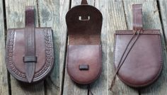 Sam's small Birka style leather pouch.