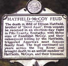 The Hatfield and McCoy Feud ~ Kentucky and West Virginia World History, Family History, Hatfield And Mccoy Feud, Hatfields And Mccoys, The Mccoys, My Old Kentucky Home, Down South, Interesting History, Ancient History