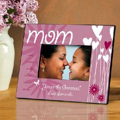 Personalized Mom Hearts and Flowers Frame - Free Shipping
