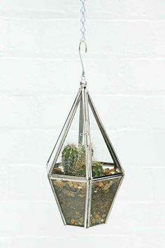 Urban Grow Terrarium Hanging Planter in Silver