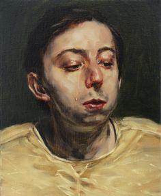 Michael Borremans (Belgian: 1963) -  'The Tear,' 2016 @ Zeno X Gallery
