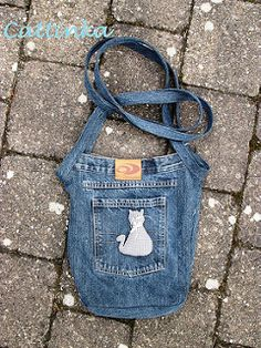 Jeans Recycling Tasche IV | por Cattinka Crochet