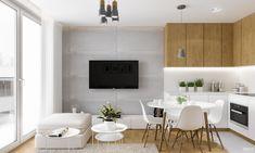Projekt mieszkania. Kraków Nowe Czyżyny: styl , w kategorii Salon zaprojektowany przez PRØJEKTYW   Architektura Wnętrz & Design