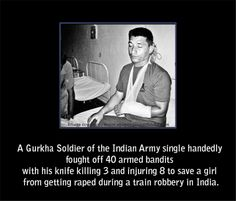 A Gurkha soldier of the Indian army...