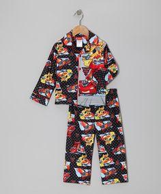 Black & Yellow Skylanders Button-Up Pajama Set - Boys | Boys ...