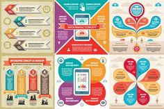 6 Infographic Business Concept. Business Infographic. $8.00