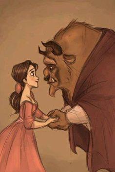 Belle and the Beast Film Disney, Disney Fan Art, Disney Love, Disney Magic, Beauty And The Beast Drawing, Beauty And The Beast Movie, Disney Queens, Belle And Beast, Pinturas Disney