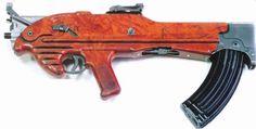 Korobov experimental assault rifle, first model in the line, circa 1962 Battle Rifle, Bullen, Submachine Gun, Assault Rifle, Airsoft Guns, Guns And Ammo, Self Defense, Tactical Gear, Shotgun