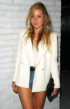 Chloe Sevigny. We're forming a little obsession with her disco meets 90's cool chick style.  Here she is again making herself known.