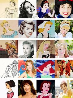 the original concept, the voice, final concept, and how the princesses are portrayed at Disney.