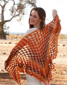 Il filo di Arianna maglia e uncinetto : Scialle sfumato