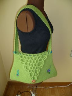 Bag from Drops Design kniting and felted.